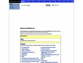 mobilefish.com screenshot