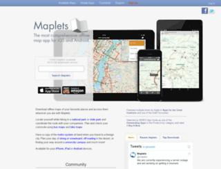mobilemaplets.com screenshot