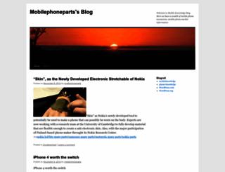 mobilephoneparts.wordpress.com screenshot