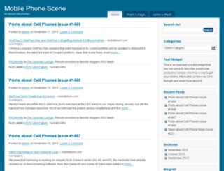 mobilephonescene.com screenshot