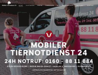 mobiler-tiernotdienst24.de screenshot