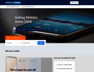 mobiles4sale.in screenshot