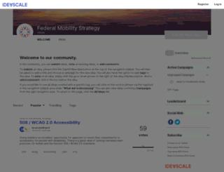 mobility-strategy.ideascale.com screenshot