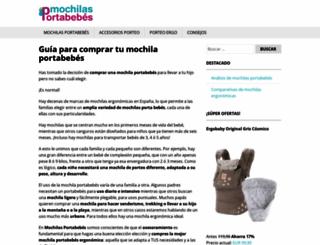 mochilas-portabebes.es screenshot