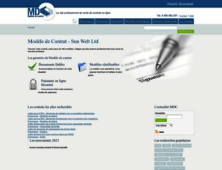 modele-contrat.com screenshot