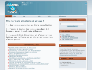 modele-et-lettre.com screenshot