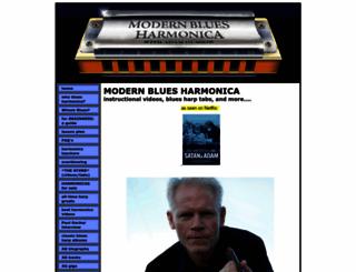 modernbluesharmonica.macwebsitebuilder.com screenshot