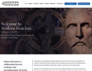modernstoicism.com screenshot