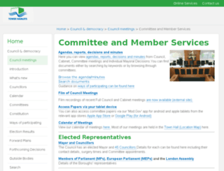 modgov.towerhamlets.gov.uk screenshot