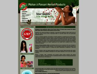 mohanjiherbals.com screenshot