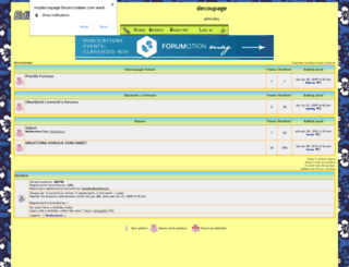 mojdecoupage.forumotion.net screenshot