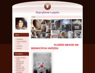mojepletenizpapiru.estranky.cz screenshot