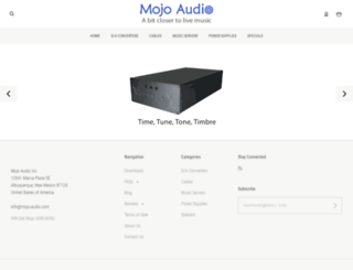 mojo-audio.com screenshot