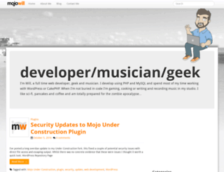 mojowill.com screenshot