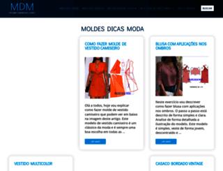 moldesdicasmoda.com screenshot