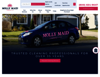 mollymaid.com screenshot