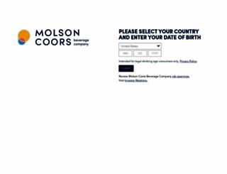 molsoncoors.com screenshot