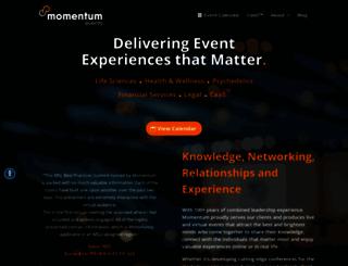 momentumevents.com screenshot