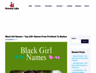 mommy-labs.com screenshot