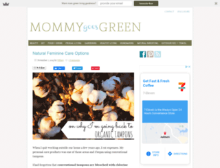 mommygoesgreen.com screenshot