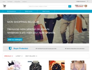 mon-shopping.be screenshot