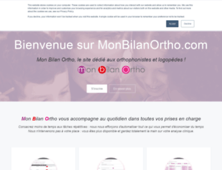 monbilanortho.com screenshot