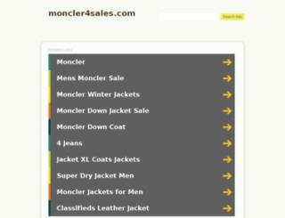 moncler4sales.com screenshot
