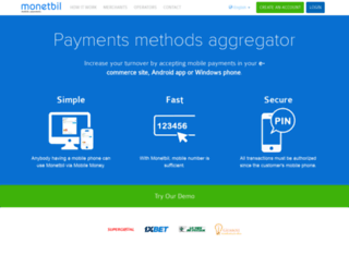 monetbil.com screenshot