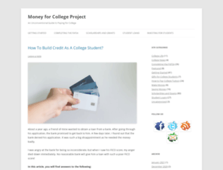moneyforcollegeproject.com screenshot