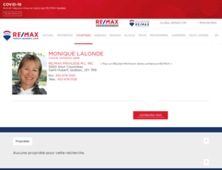 moniquelalonde.com screenshot