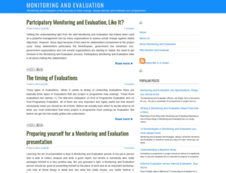 monitoring-and-evaluation.blogspot.com screenshot