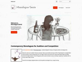 monologuegenie.com screenshot