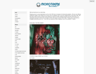 monotremerecords.limitedrun.com screenshot