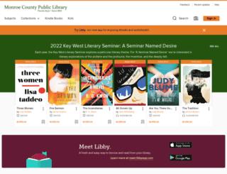 monroecountyfl.libraryreserve.com screenshot