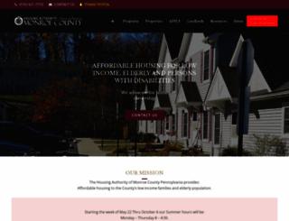 monroecountyhousing.org screenshot