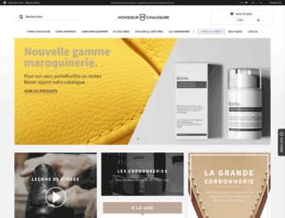 monsieurchaussure.com screenshot