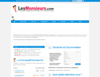 monsieurvie.lesmonsieurs.com screenshot