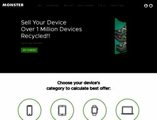 monsterbuyback.com screenshot