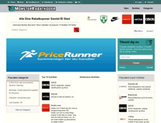 monsterrabatkoder.dk screenshot