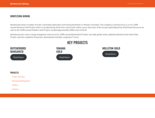 montezumamining.com.au screenshot