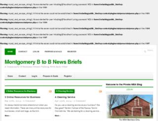 montgomeryb2bnewsbriefs.com screenshot