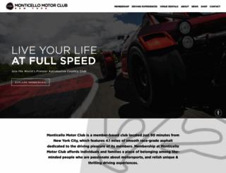 monticellomotorclub.com screenshot