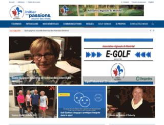 montreal.golfquebec.org screenshot