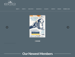 montrosechamber.org screenshot