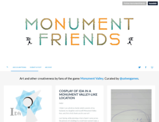 monumentfriends.tumblr.com screenshot