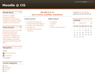 moodle.cis.edu.hk screenshot