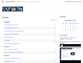 moodle.cursoscatolicos.com.br screenshot