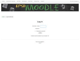 moodle.eastpennsd.org screenshot