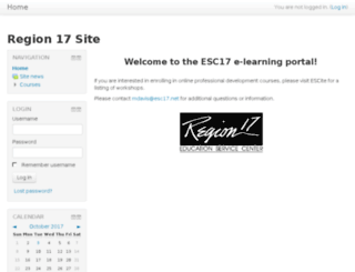 moodle.esc17.net screenshot