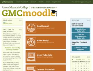 moodle.greenmtn.edu screenshot